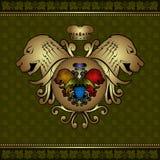 Druiven heraldische achtergrond Stock Foto