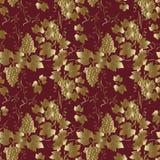 Druiven naadloze achtergrond Royalty-vrije Stock Afbeelding