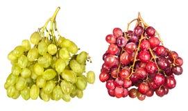 Druiven op wit royalty-vrije stock foto