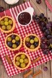 Druiventaartjes stock afbeeldingen