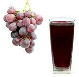 Druivesap en druif Stock Fotografie