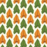 Druków Abstrakcjonistycznych liści Deseniowy wektor ilustracji