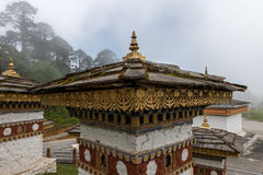 Druk哄骗Chorten, Punakha省不丹2015年9月 免版税库存照片