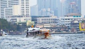 Druk boot Bangkok uit Stock Afbeelding