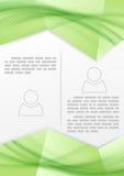 Druk broszury zieleni miękkiej części gładki kreskowy projekt Zdjęcie Stock