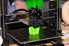 Druk 3d printer Royalty-vrije Stock Fotografie