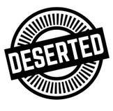 Druk dezerterujący znaczek na bielu ilustracji