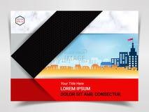 Druk die Klaar Malplaatje, A4-Grootteontwerp voor Bedrijf Marketing Presentatielay-out en Dekkingsontwerp adverteren vector illustratie