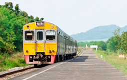 Druk diesel railcar uit Stock Fotografie