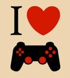 Druk kocham hazardu wektorowego ilustracyjnego tło ilustracja wektor