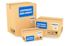 Druk leveringspakketten uit Stock Afbeelding
