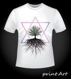 Druk op een T-shirt Royalty-vrije Stock Afbeeldingen