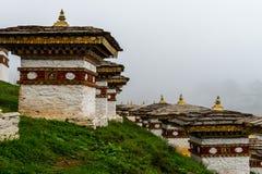 Druk se débrouillent pour avoir Chorten, Punakha province le Bhutan en septembre 2015 Image stock