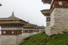 Druk se débrouillent pour avoir Chorten, Punakha province le Bhutan en septembre 2015 Photos stock