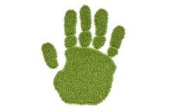 Druk van de gras de menselijke hand, het 3D teruggeven vector illustratie