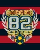 Druk van Jersey van het sportenvoetbal de liga verontruste stock illustratie