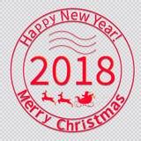 Druk voor Kerstmis envelop-02 stock illustratie