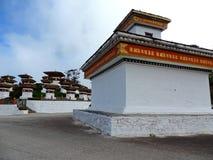 Druk Wangyal Chortens bij Dochula-Pas, Bhutan royalty-vrije stock afbeelding