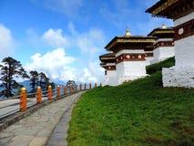 Druk Wangyal Chortens bij Dochula-Pas, Bhutan stock fotografie