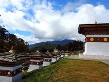 Druk Wangyal Chortens bij Dochula-Pas, Bhutan royalty-vrije stock foto's