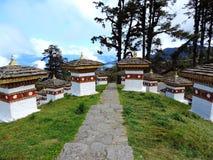 Druk Wangyal Chortens bij Dochula-Pas, Bhutan royalty-vrije stock afbeeldingen