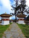 Druk Wangyal Chortens bij Dochula-Pas, Bhutan royalty-vrije stock fotografie