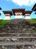 Druk Wangyal Chortens bij Dochula-Pas, Bhutan royalty-vrije stock foto