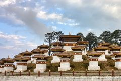 Druk Wangyal Chortens Stock Photography