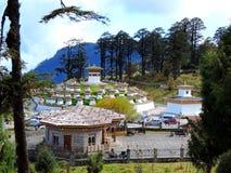 Druk Wangyal Chortens en el paso de Dochula, Bhután imagenes de archivo