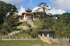 Druk Wangyal Lhakhang, dichtbij Thimphu (Bhutan) werd, voortgebouwd op de bovenkant van een heuvel Stock Foto's