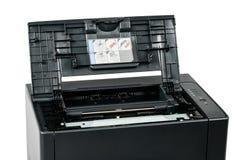 Drukarka laserowa z rozpieczętowaną frontową pokrywą Zdjęcie Stock