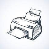 drukarka rysuje tła trawy kwiecistego wektora ilustracja wektor