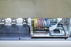 Drukarki maszynowy inkjet na odgórnym widoku fotografia royalty free