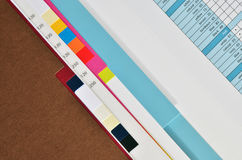 Drukdocument steekproefboek Stock Foto
