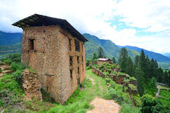 Drukgyel Dzong废墟  免版税库存照片