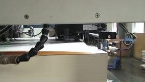 Drukhuis typografie Een deel van de compensatiemachine stock footage