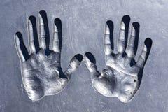 Druki ludzkie ręki Fotografia Stock