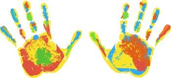 Drukken van handen, reeks Royalty-vrije Stock Foto