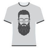 Drukkent-shirts met het beeld van hipsters Stock Fotografie