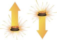 Drukknop, 3d rood pictogram, vector Vector Illustratie