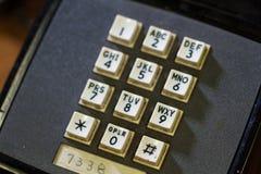 Drukknoptelefoon op Slagschip Wisconsin Stock Afbeeldingen