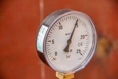 Drukmaat, manometer 25 bar Royalty-vrije Stock Afbeelding