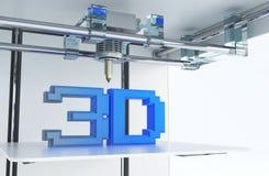 Drukować w 3D technologii ilustracja wektor