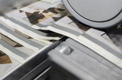 Drukowa maszyna podczas magazynu druku produkci Obrazy Stock