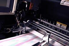Drukowa maszyna podczas produkci wydajności zdjęcia stock