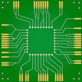 Drukowana obwód deska dla środkowego procesoru jednostki Fotografia Stock