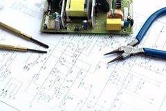 Drukowana obwód deska, narzędzia i zdjęcia stock