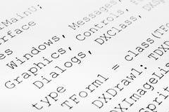 Drukowany komputerowy kod obraz stock