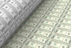 Drukowi dolarów amerykańskich banknoty Fotografia Royalty Free