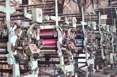 Drukpersmachine Stock Foto's